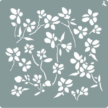 LA PAJARITA Virág stencil
