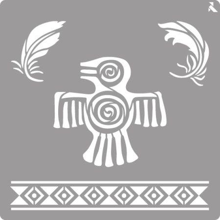 LA PAJARITA Maya stencil
