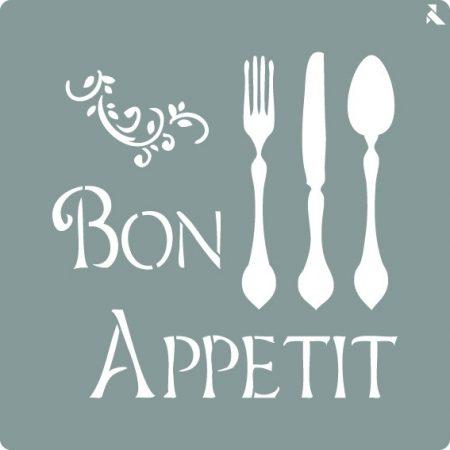 LA PAJARITA Bon Appetit stencil