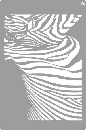 LA PAJARITA Zebra stencil