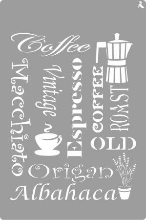 LA PAJARITA Kávé stencil