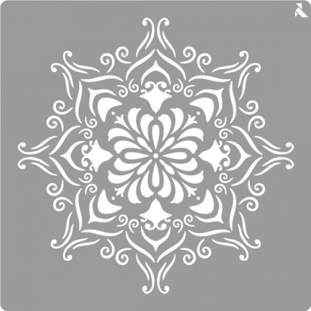 LA PAJARITA Mandala stencil