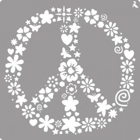 LA PAJARITA Peace stencil