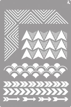 LA PAJARITA Geometria stencil
