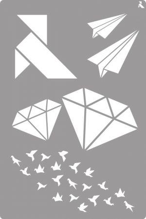 LA PAJARITA Origami stencil