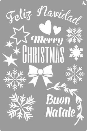 LA PAJARITA Feliz Navidad stencil