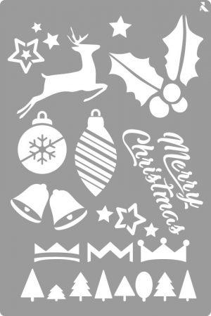 LA PAJARITA Merry Christmas stencil