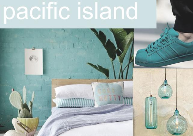 Pacific Island - Égkék krétafesték inspiráció