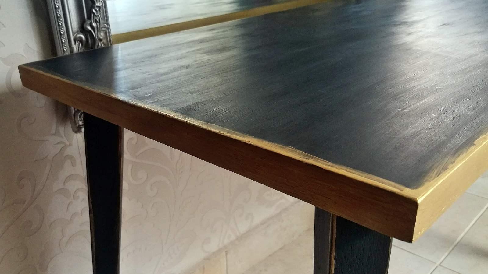 Régi asztal festése - a végeredmény