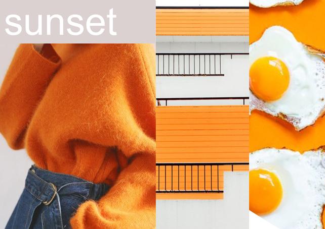 Sunset - Narancssárga krétafesték inspiráció